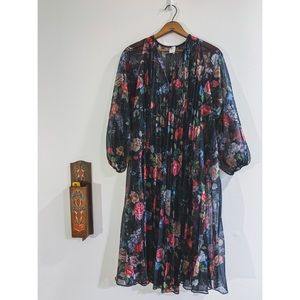 Vtg 70's Edith Flagg California Dress